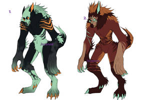Werewolves Adopt (OPEN( (PAYPAL/POINTS) by Borajace