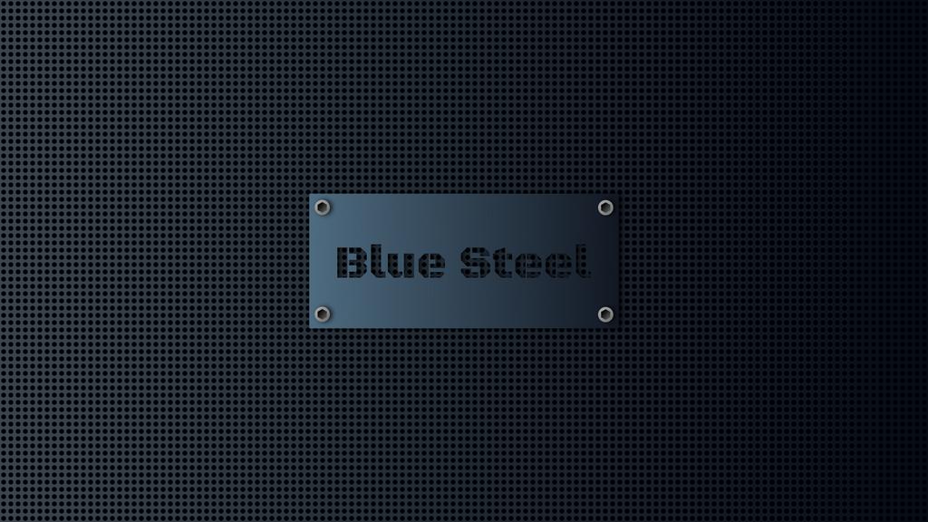 Blue-Steel mesh wall by Karl-Schneider