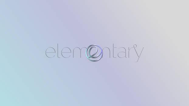 Opal-Elementary font logo-center