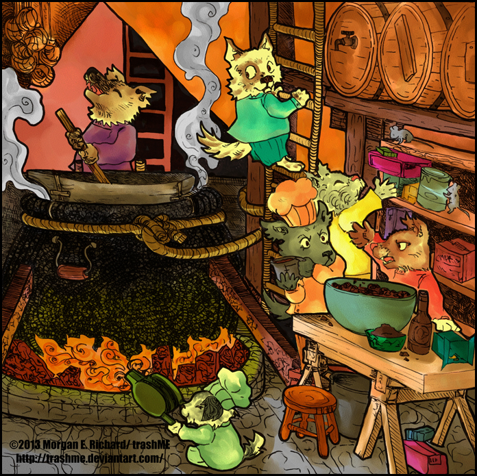 Kobolds at Work +COLOR+ by TrashME