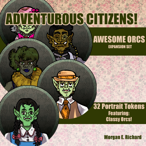 Adventurous Citizens Awesome Orcs Token Set by TrashME