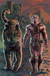 He-Man and Battle Cat-Colored