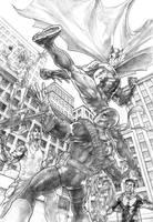 Batman versus Deathstroke by PatC-14