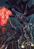 Batman vs. Deathstroke colors by PatC-14