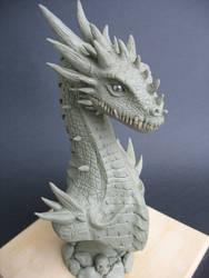 Dragon bust by AttilaMaros