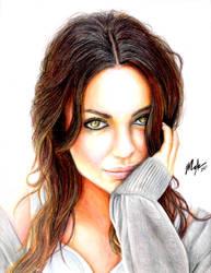 Actress Mila Kunis by sweatymonkeys
