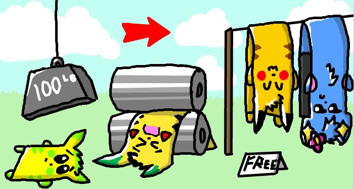 poke towl laundry colab by secretgoombaman12345
