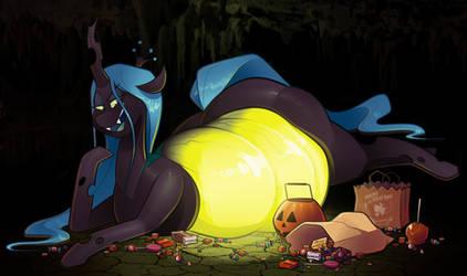 Halloween Chrysalis by secretgoombaman12345