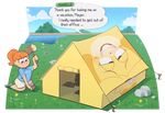 New horizons pun featuring Isabelle