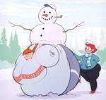 Christmas Sunny snowman