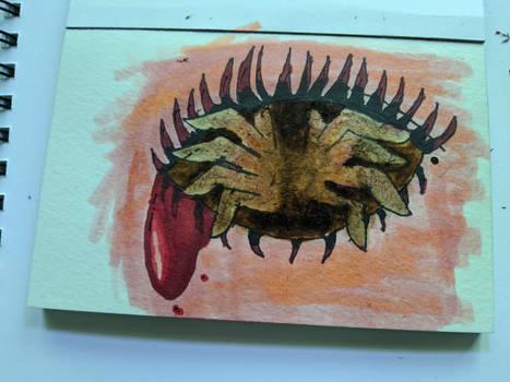 weird creepy eye