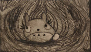 baby totoro in a never ending forest