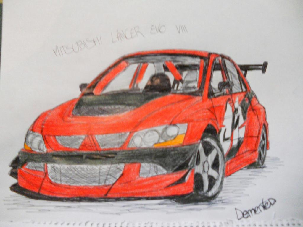 Mitsu Lancer Evo From Tokyo Drift Car Drawing By Danchix On
