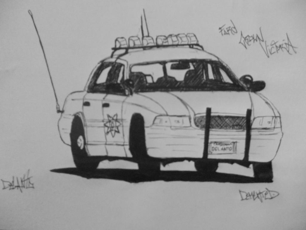 Ford Crown Victoria Police Car Drawing By Danchix On Deviantart