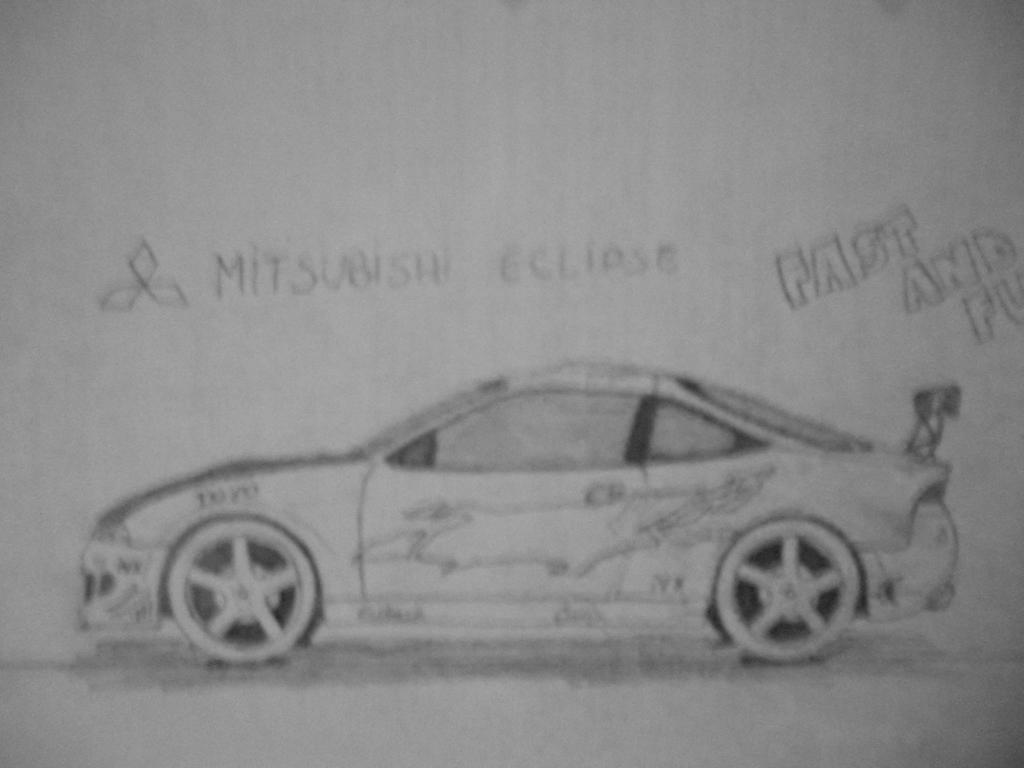 Mitsubishi Eclipse From Fnf Car Drawing By Danchix On Deviantart