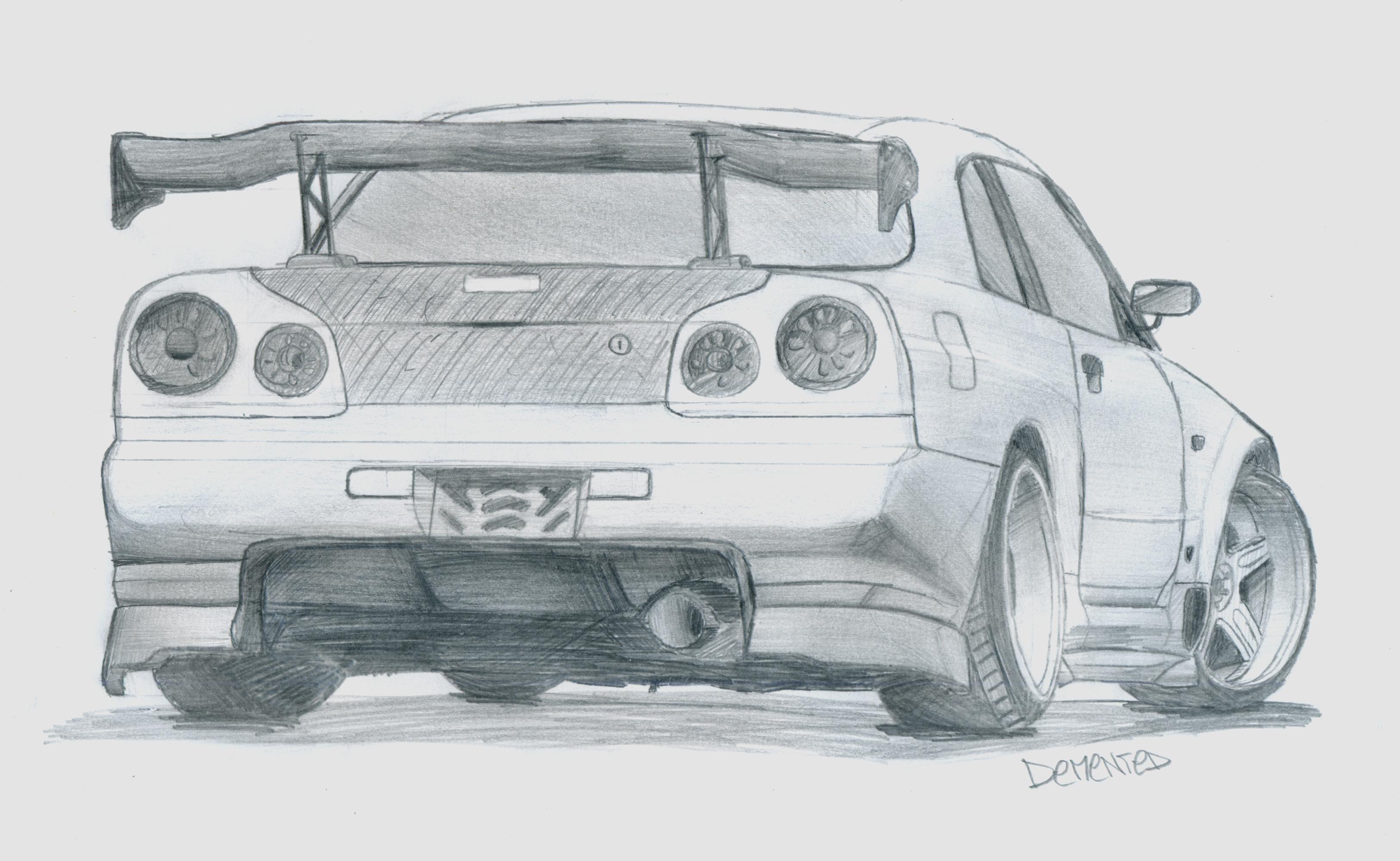 Line Drawing Nissan Gtr : Street racer s dream skyline r gtr by danchix on
