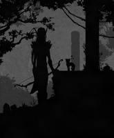 Blood elf hunter by Beffana