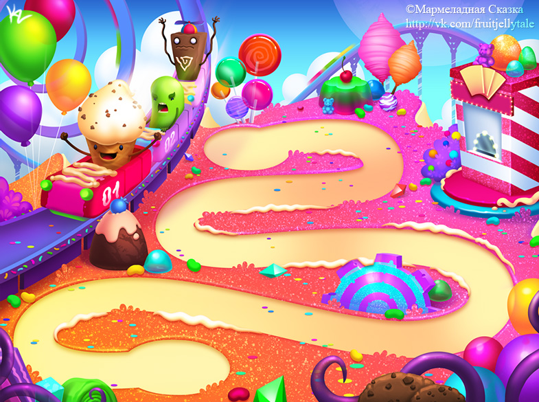 Candy Background 1 by Beffana