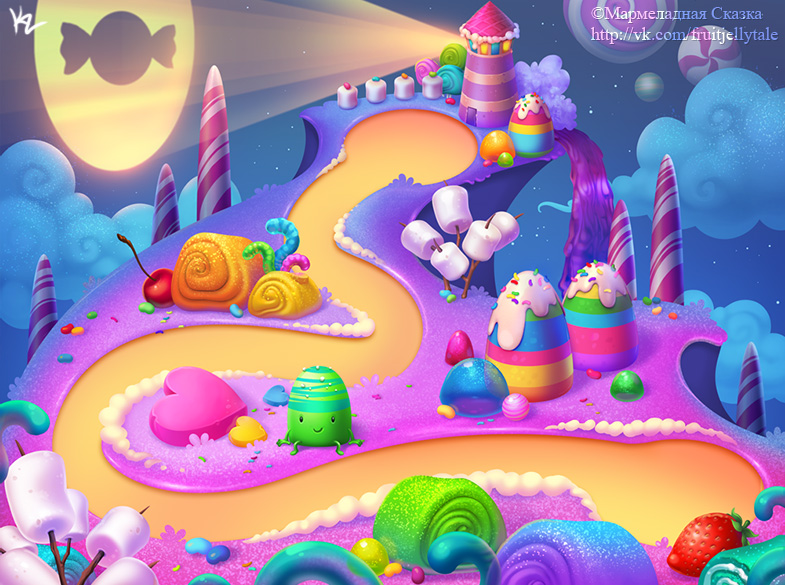 Candy Background 2 by Beffana