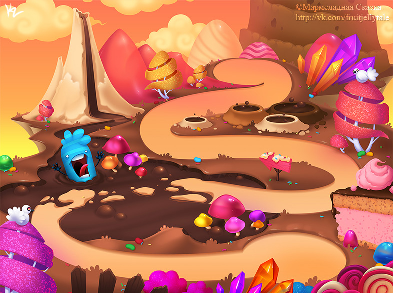 Candy Background 4 by Beffana