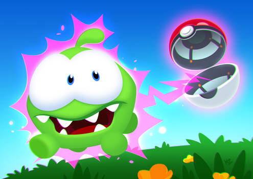 PokemonGo Om Nom Cut The Rope crossover