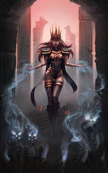 Necromancer book cover illustration