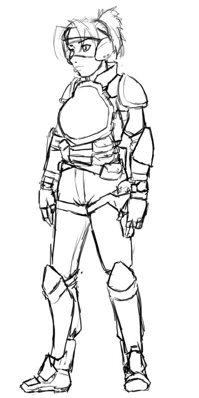 Maeve in armor by samutoka