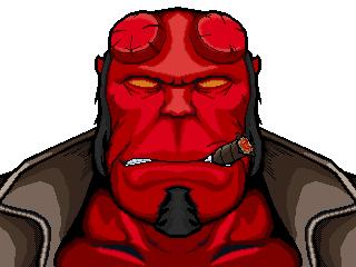 hellboy by thearlequin on deviantart rh thearlequin deviantart com Hellboy Symbol Hades Logo