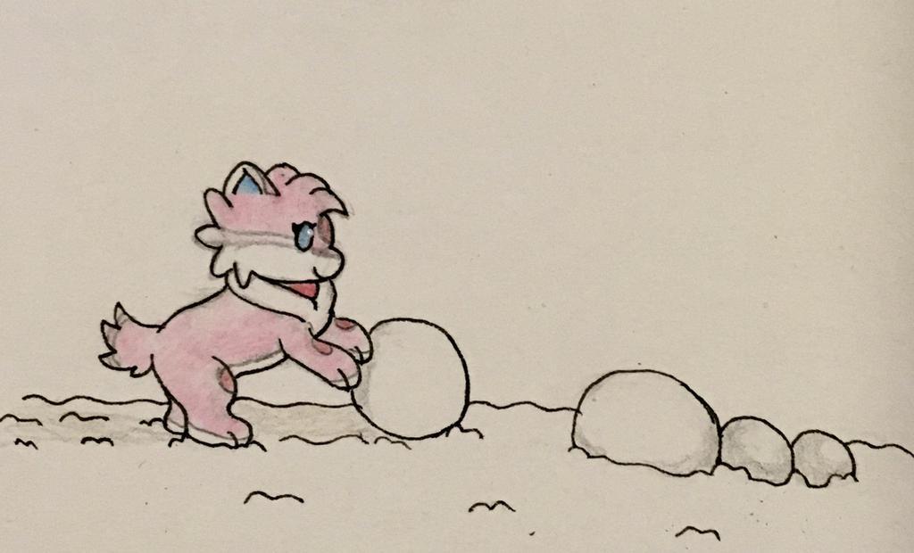 Companion Crunch: Snowman building by Anna7334