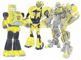 Bumblebee-3 versions by Metalchick36