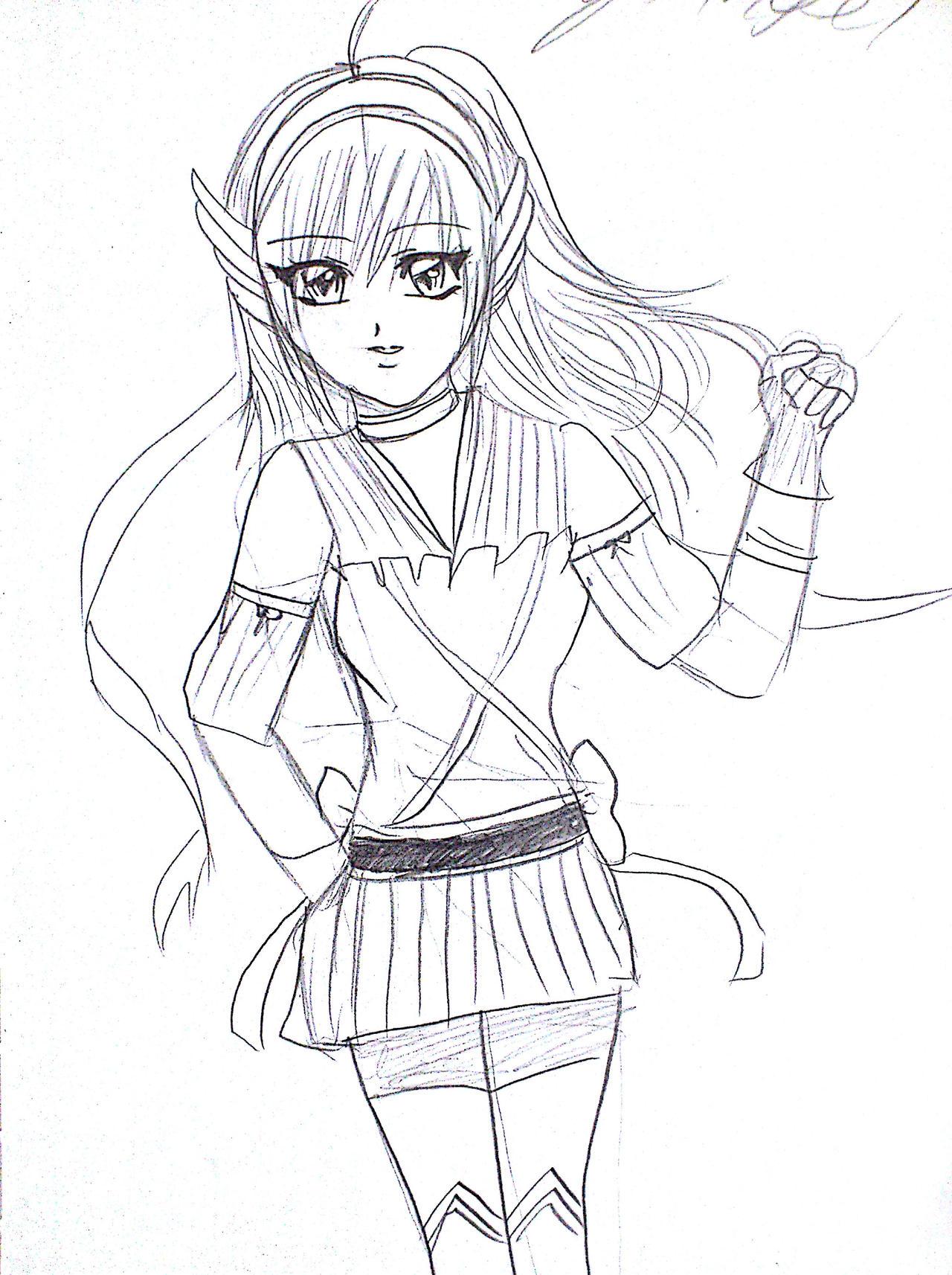 Anime Drawings - Anime Drawings By Irihime 3Chan Beig