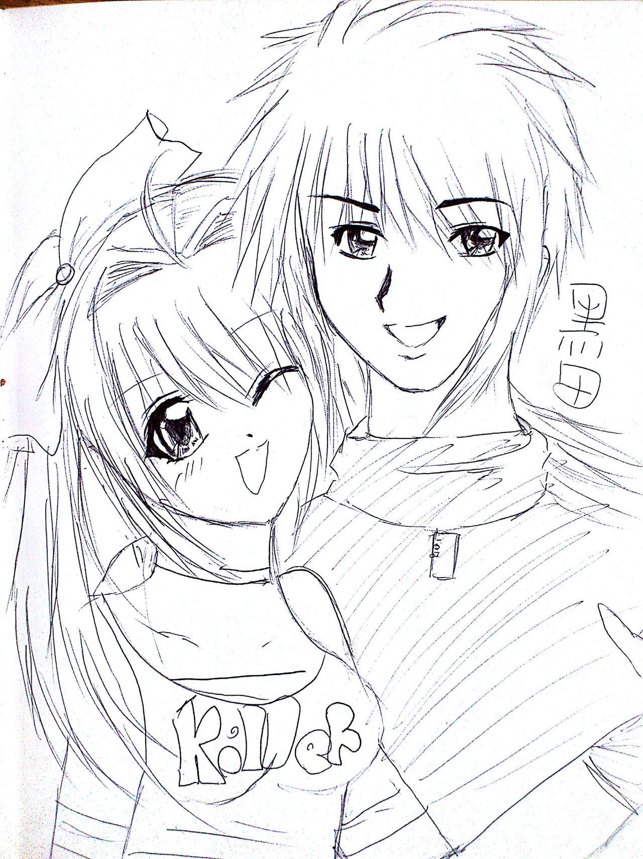 Anime Drawings - Anime Drawings By Irihime 3Chan Blqa