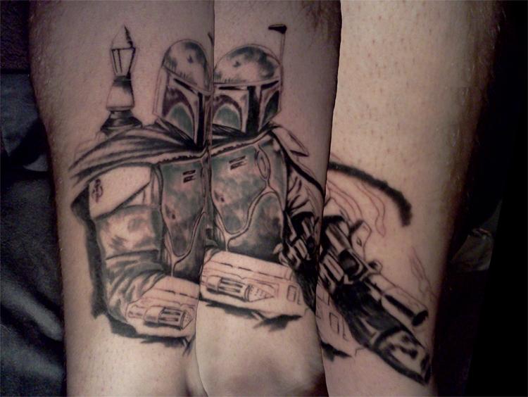 Star wars leg sleeve 1 by v3n0m607 on deviantart for Star tattoos on leg