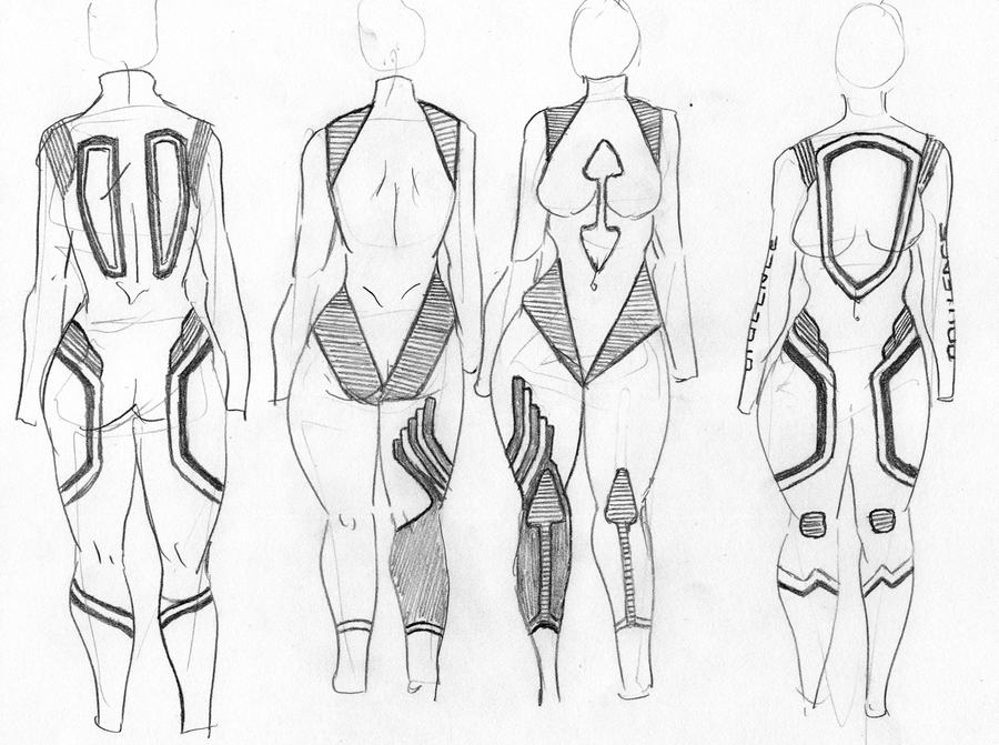 Wetsuit design exercise by K-Oni