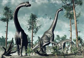 Brachiosaurus - TIME WARS by Nytcrawler