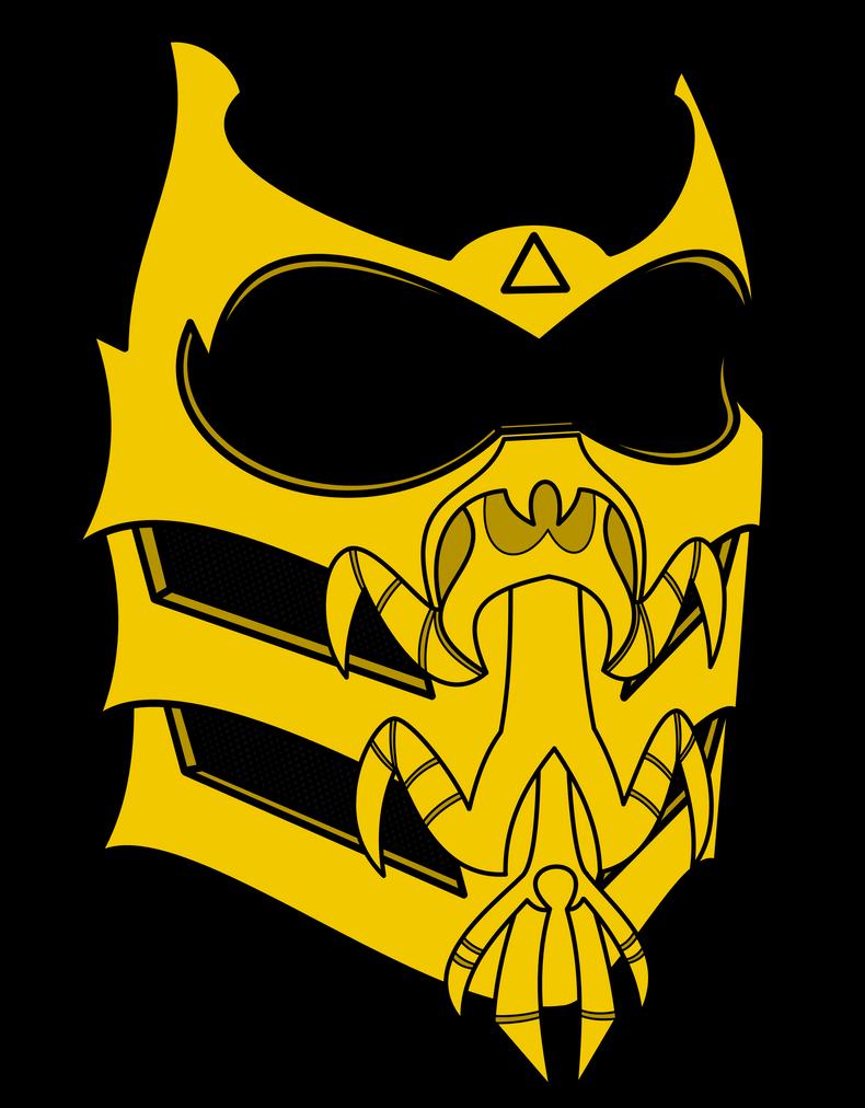 Как сделать маску скорпиона из mortal kombat