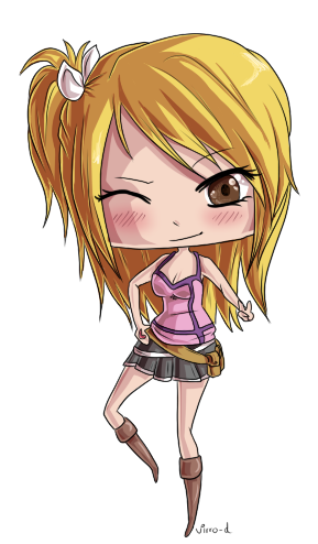 Fairy Tail - Chibi Lucy by virro-d on DeviantArt