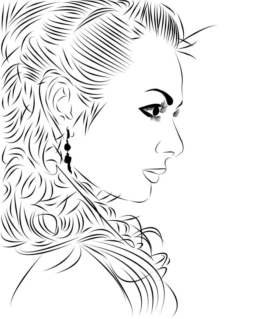 Line Art Woman : Line art woman by jenni on deviantart