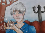 Jack Frost with snow flakes by HeroXD