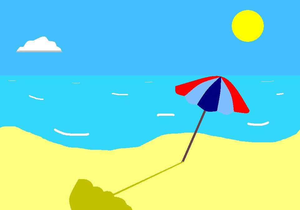 Beach Drawing Simple By Zylaa N