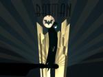 3D Art Deco Batman Robot