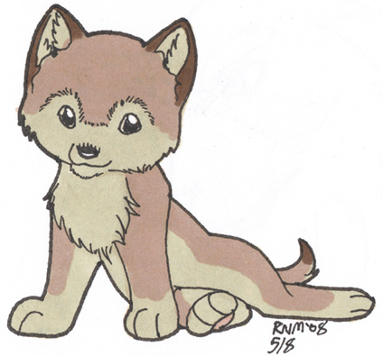 How to Draw a Cute Wolf, Step by Step, forest animals ...