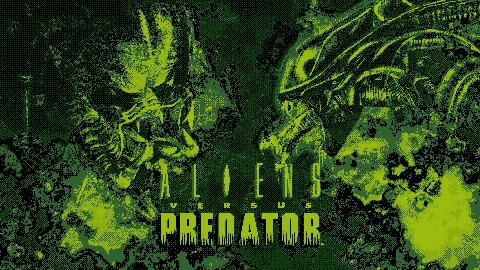 Alien Vs. Predator - Gameboy style wallpaper by RabidWeezle