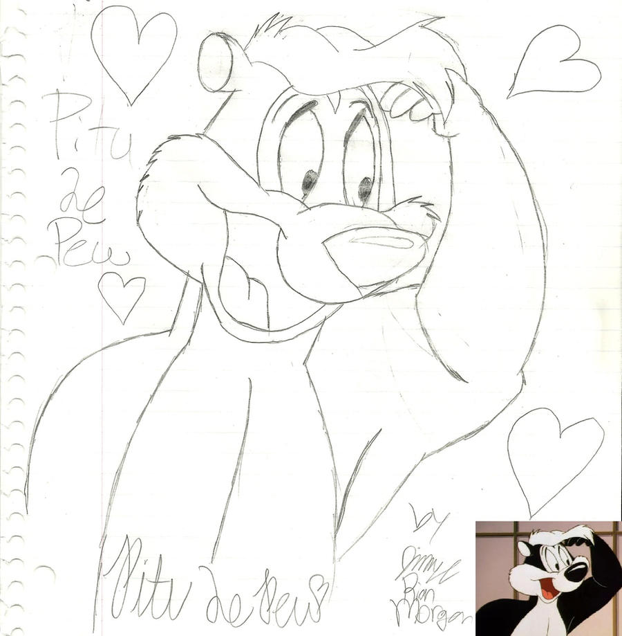 Pitu Le Pew First Attempt by LooneyArtist on DeviantArt
