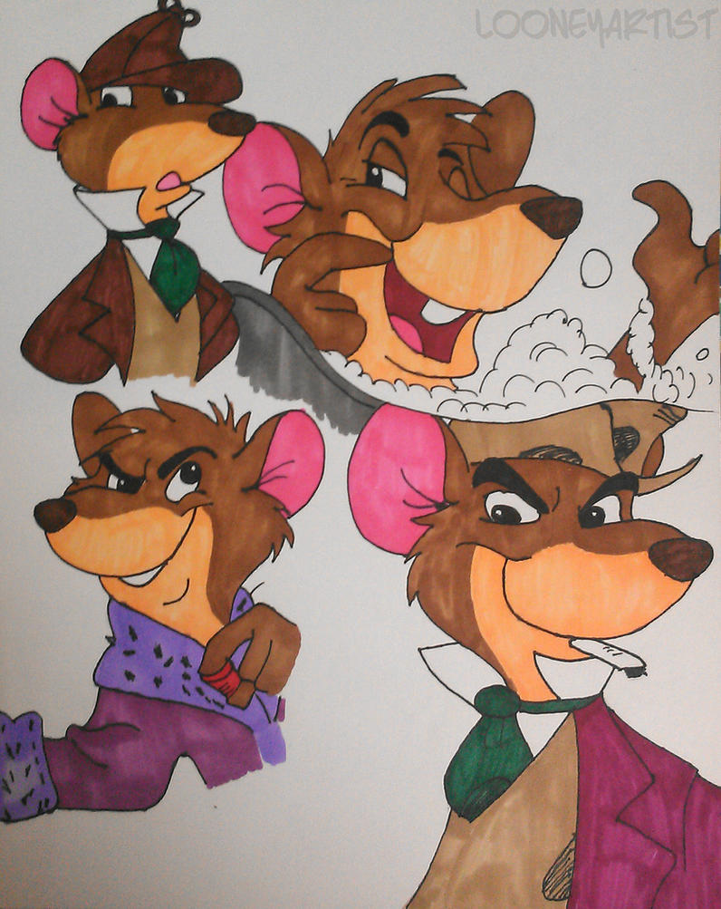 Basil and the Great Train Robbery Sketches by LooneyArtist