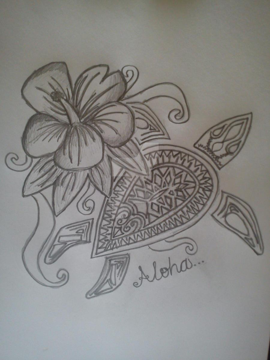Hawaiian style tattoo by fionachitauro on deviantart for Hawaiian style tattoos
