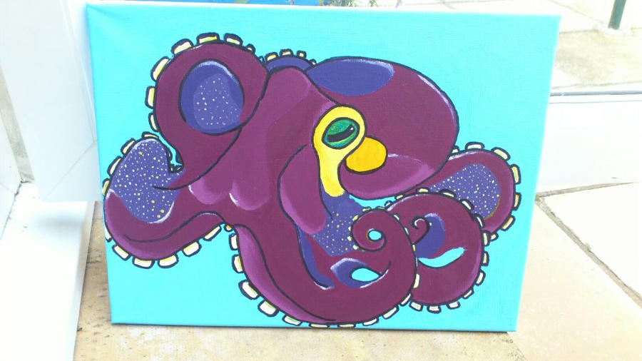 Octopus Canvas by fionachitauro