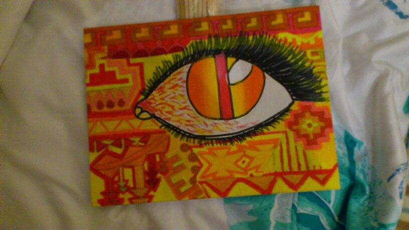 Aztec Eye by fionachitauro