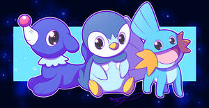Water Starters by ThousandKnight