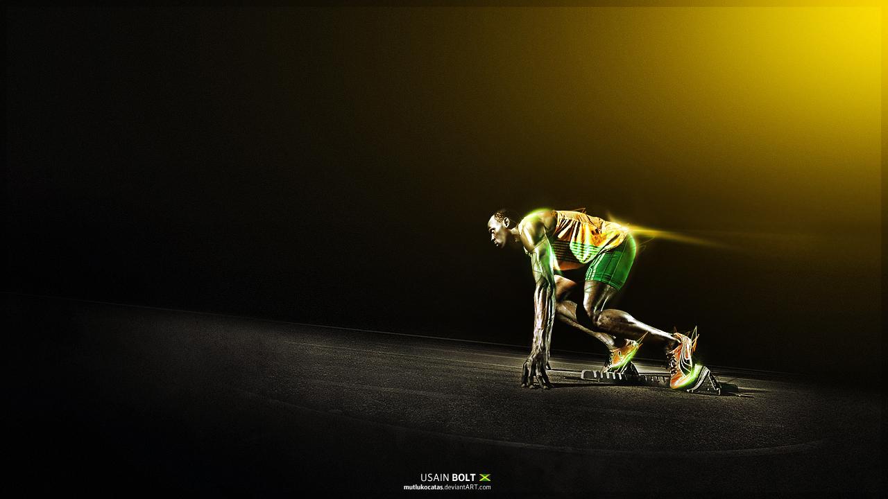 Usain Bolt Running Wallpaper For Kids